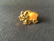 Gold Plated Enamelled Animal Brooch Pin Elephant