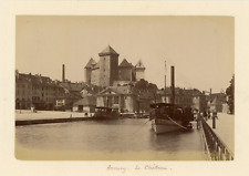 France, Annecy Le Château  vintage albumen print,  Tirage albuminé  13x18
