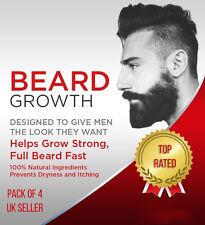 4 X HAIR GROWTH OIL  FAST FACIAL SERUM  GROW MUSTACHE BEARD EYEBROW & SCALP