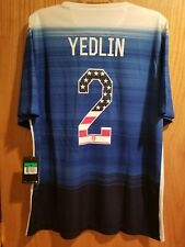 Nike Usa Us Soccer Usmnt 2015 Away Jersey Le DeAndre Yedlin #2 Size Xl