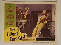 1953 The I Don't Care Girl #6 Lobby Card 11 x 14  Mitzi Gaynor, David Wayne