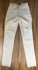 American Apparel Womens Jeggings All White Pants Size XS Stretch Jeans