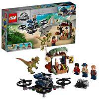 LEGO Jurassic World Dilophosaurus on the Loose Set with 3 Minifigures 75934
