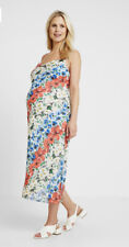 Topshop Maternity Floral Chiffon Slip Dress UK 10 Summer Maxi Cowl Neck BWNT