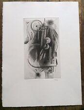 Gravure burin Albert Flocon (1904-1994) tirage postérieur timbre sec