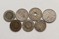 BELGIUM OLD 5 CENTIMES & 1 FRANC LOT B15 SWT27