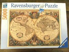 ~RAVENSBURGER 5000 piece Jigsaw puzzle - ANTIQUE WORLD MAP - COMPLETE~