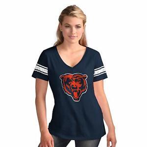 Chicago Bears Women's Ballpark V-Neck T-Shirt - Navy