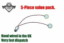 "PACK OF 5 : T2 Guitar 2 x Piezo Pickup harness with 1/4"" Jack cigar box CBG loom"