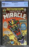 Mister Miracle #1 - CBCS 9.0 OW/W PAGES Kirby 1st App Mr. Miracle & Oberon CGC