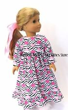 Zebra Heart Granny Nightgown Doll Clothes Made For 18 in American Girl Dolls