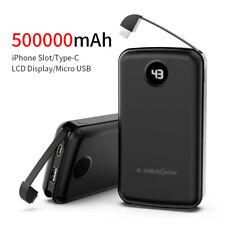 Portable Ultrathin 500000mAh USB External Battery Power Bank Pack Charger Phone