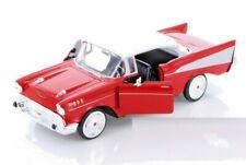 MOTORMAX 1957 57 CHEVY BEL AIR HARD TOP 1/24 Scale DIECAST Model Car RED