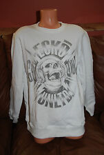 New Men's Ecko Unltd Get Loud Pullover White Skull Rhino Crew sweatshirt M  $70
