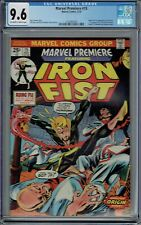 CGC 9.6 MARVEL PREMIERE #15 1ST APPEARANCE OF IRON FIST O/W TO WHITE PAGES