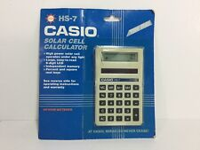 Casio Hs-7 Solar Cell Powered Calculator Brand New In Original Package