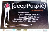Deep Purple Poster Purpendicular Tour Forest Vorst Belgium 1996