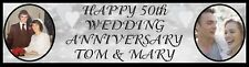 Wedding Anniversary Party Poster Large Banner Personalized with photos