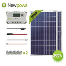 200W Watt Solar Panel 12V System NewPowa Controller Mounts MC4 Wire charging Kit