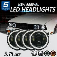 "4pcs 5.75 5-3/4"" Round LED Headlight for Chevy Corvette C1 C2 Peterbilt 289 359"