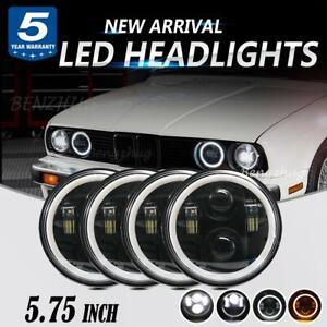 5.75 5-3/4 in LED Headlight 4PC  Hi lo for Peterbilt 359 Chrysler Dodge Ford