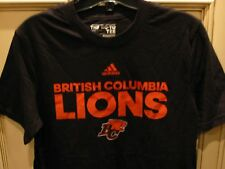 "YOUTH KIDS Large 17.5"" adidas CFL BC LIONS Football Boys T Shirt B.C. Black"