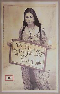 Coca-Cola Collectible OK Soda 1994 Retro Art Bottle Label I'm OK