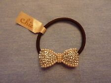 Hair Tie Crystal Bow Design by Chica Japan NWT
