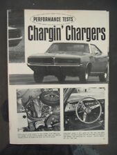 1969 Dodge Fever Charger R/T  Hot Rodding multi page Test 440 426 car ad print
