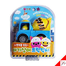 Pinkfong Mini Heavy Vehicle Equipment Concrete Truck Mixer Pullback Car Kids Toy