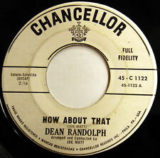 DEAN RANDOLPH 45 How About That / Come With Me PROMO Teen R&B Rocker 1962 e3329