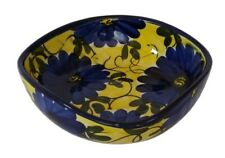 Square Side Salad / Tapas Bowl Dish 16 x 4.5 cm Spanish Handmade Ceramic Pottery
