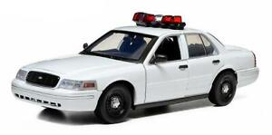 1:18 Greenlight Ford Crown Victoria Interceptor with Lights and Sound (White)