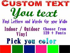 custom  Text decal Personalized Vinyl Quote  Customized  Words  Phrases sticker