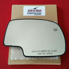 NEW MIRROR GLASS CHEVY GMC TRUCK SUV PASSENGER SIDE HEATED POWER WITH BACKING