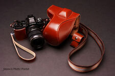 Handmade Genunie Real Leather Full Camera Case bag for Olympus OM-D E-M5 EM5
