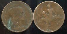 FRANCE 5 centimes  1904  DUPUIS    ( etat )
