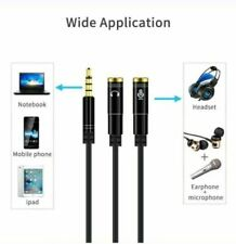 3.5mm Y Splitter 1Jack Male to 2 Female Headphone Audio Adapter Cable