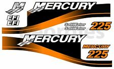 ORANGE MERCURY 225 OUTBOARD FOUR STROKE MOTOR STICKERS DECAL KIT ENGINE
