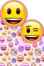 Emoji Girl Unicorn Lollipop Smiley Rainbow Greeting Card