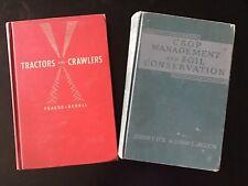 Vintage Farm Tractor Farming Book Agriculture 1963 TRACTORS & CRAWLERS Crop Mgnt