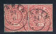 Waren 21 6 nachv Mecklenburg Stempel paar 1 Gr Güstrow