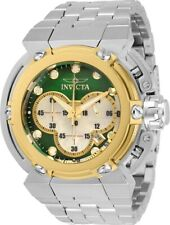 Invicta Mens 46mm X-Wing Coalition Force Green Dial Silver-Tone Bracelet Watch
