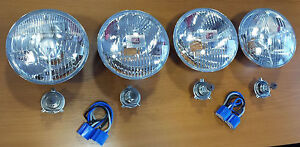 Mercedes Benz Complete headlights Kit Set 4x New R107 C107 W108 W109 W111 W112