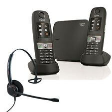 Cordless Phone Gigaset E630A 2 Handsets w Answer Machine and Corded Headset