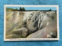 Kakabeka Falls in the Winter, Twin Cities, Ontario, Canada Vintage Postcard