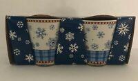 Sakura Debbie Mumm Snowflake Set of 4 Mugs Cups Christmas Holiday Winter NEW
