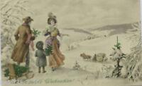 """"""" Año Nuevo, Hombre, Mujeres, Niños, Trineo"""" 1910 , con Munk , Vienne (10703)"""