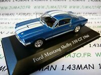 CH9T : Voitures Mythiques Atlas IXO Chapatte : FORD Mustang Shelby 350 Gt 1966