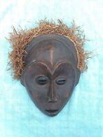 Vintage African Tribal Mask Democratic Republic of Congo Primitive Art